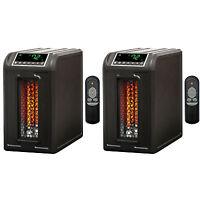 Lifesmart 3 Element 1500w Quartz Infrared Electric Portable Space Heaters (pair)