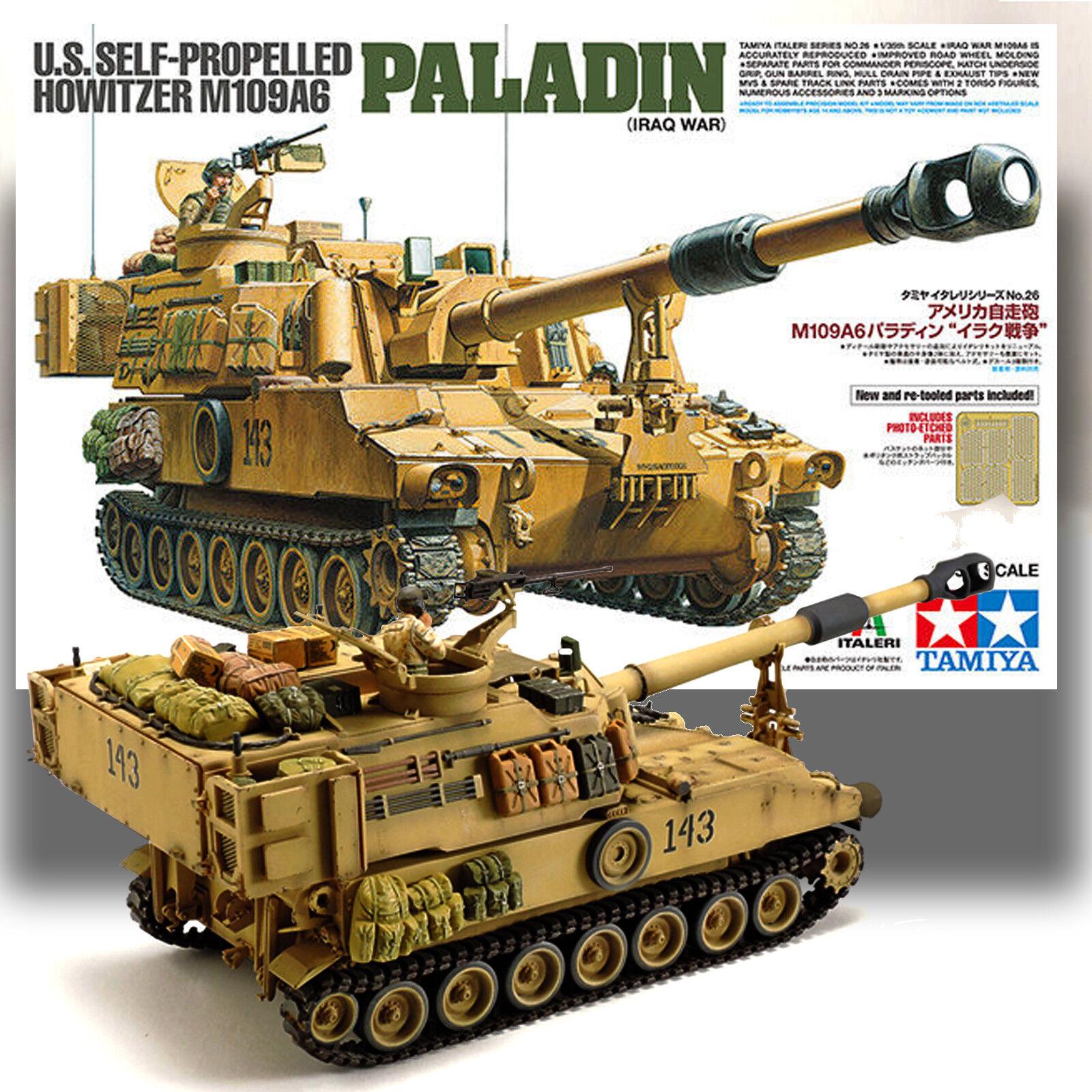 TAMIYA 1  35 M109A6 PALADIN U.S. SELLF FÖRESLÄDD HOWITZER modellllerL KIT 37026