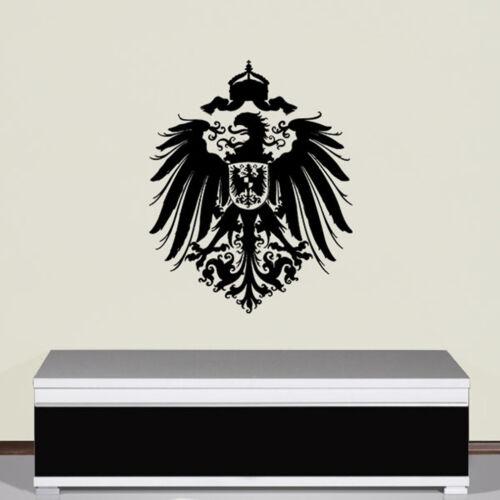 Wandtattoo Adler Deutsche Kaiser Reich Preußen Deutschland Adler 56x45cm #A2883