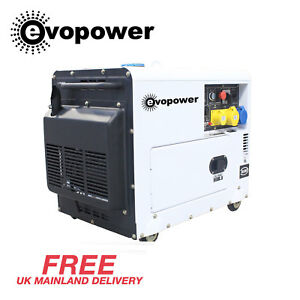 Generator Diesel Silent Portable Home Use ELECTRIC START 6.5kVA 5.2kw 230V 50Hz