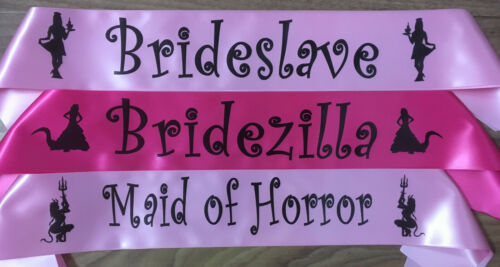 22 Colours MOB  Personalised Sash Bridesmaid Hen/'s Night MOG Bride To Be
