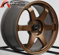 Bronze Rota Grid 17x8 +35 4x114.3 Wheels Fit 240sx S13 Accord Prelude 4x4.5 Rim