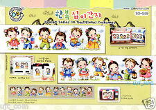 """Korea Traditional Costume - Korean Zodiac"" Cross stitch pattern leaflet. SO-G59"
