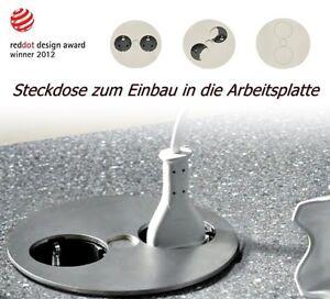 Twist 2-fach Steckdose Edelstahl Einbau Arbeitsplatte Küche ...