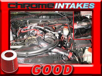 BLACK RED 94-97 CHEVY S10//XTREME//HOMBRE//SONOMA 2.2 2.2L FULL COLD AIR INTAKE 3/""