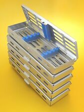 Set of 5 Dental/Surgical Sterilization Cassette Rack for 5 Instruments *CE New*