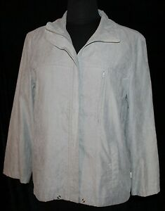 Womens-Mac-amp-Jac-Sz-10-Zip-Front-Jacket-Grey-Gray-Light-Weight