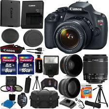 Canon EOS Rebel T5 / EOS 1200D 18.0MP Digital SLR Camera - Black (Kit w/ EF-S III 18-55mm Lens)