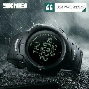 SKMEI-Men-039-s-Compass-Army-Sport-Military-Tactical-Chrono-Waterproof-Digital-Watch
