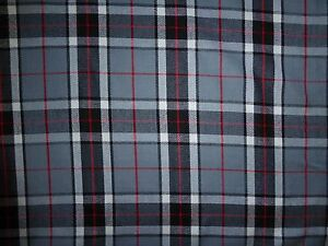 Image Is Loading Grey Red Black Poly Wool Fabric 60 034