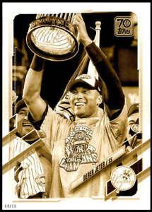 Derek Jeter 2021 Topps 5x7 Variation Short Prints Gold #242 /10 Yankees