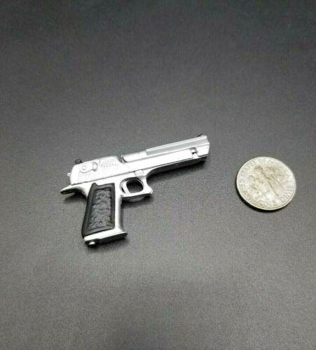 """1:6 BBI Chrome Desert Eagle .44 Magnum pistolet 12/"""" GI JOE Dragon CY GIRL Phicen"""