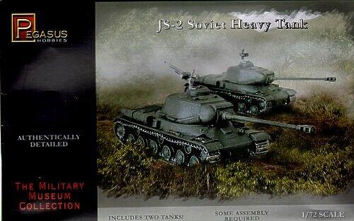 Pegasus Hobbies- 1/72 scale - JS-2 SOVIET HEAVY TANKS x 2 - Model Kit 7669