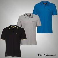 Mens Branded Ben Sherman Short Sleeves Cotton Polo Shirt Top Size S M L Xl Xxl