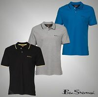 Mens Branded Ben Sherman Short Sleeves Cotton Polo Shirt Top Size S M L Xl Xxl