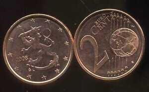 FINLANDE    2 cents  2008  SPL  neuve  ( sortie du rouleau )  ( bis )