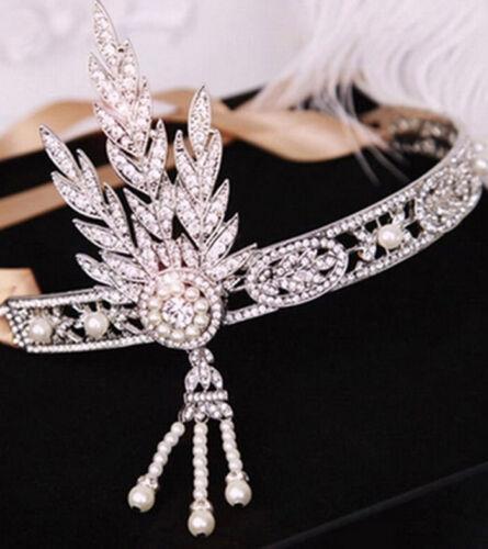 20s Headband Bracelet Ring Set 1920s Vintage Bridal Gatsby Costume Accessory
