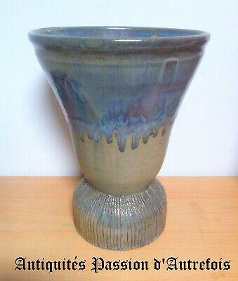 B201927- Grand Et Lourd Vase En Grés - 36,5 Cm De Hauteur - 4 Kg 800 - Tb état Op Reis