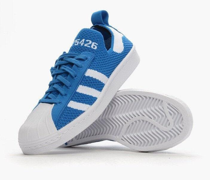 ADIDAS Originals SUPERSTAR 80s PRIMEKNIT S75426 Sneakers Schuhes Blau SIZE 10.5