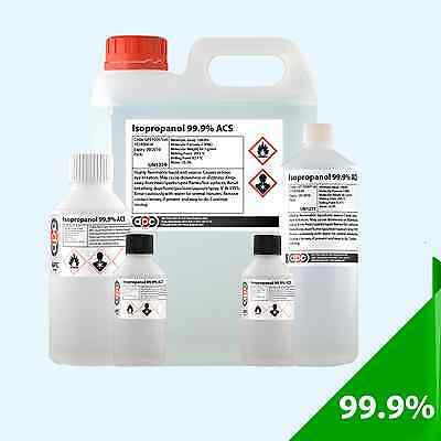 Isopropyl Alcohol (Isopropanol) 99.9% ACS - Choose Pack Size and Cap/Adapter