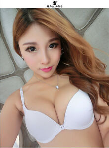 dc64f06943a13 Details about New Super Boost Closure A B Cup Front Buckle Push Up Bra Side  Support Plunge A B