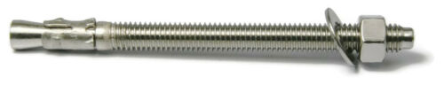 304 Stainless Steel Concrete Wedge Anchor 1//4 x 3-1//4 Qty 100