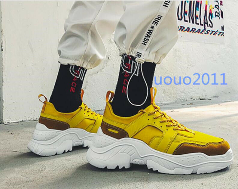 Fashion Mens Lace Up Platform Athletic Hip Hop Street Sport Casual Running shoes