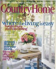 COUNTRY HOME MAGAZINE~JUNE 2004~WHERE THE LIVING IS EASY~FREE SHIPPING