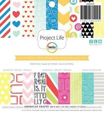 Project Life HIGH FIVE 6x6 Paper Pad Becky Higgins Teen Family Pocket Page 36p