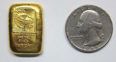 Rare Hong Kong Gold Tael Bar!