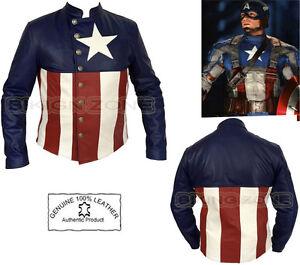 captain america stile uomo moto moto moda giacca in pelle ebay. Black Bedroom Furniture Sets. Home Design Ideas