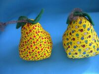 Vintage Christmas Tree Ornaments - Hand Made - Fruit