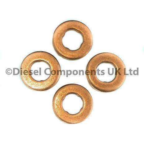 RONDELLE confezione da 4 PEUGEOT 406 2.2 HDI Bosch Diesel Iniettore GUARNIZIONI