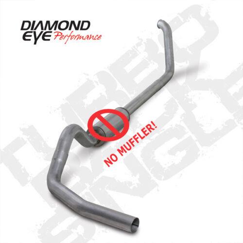 "Diamond Eye 4/"" Alum Turbo Back Exhaust No Mflr 99-03 Ford SuperDuty 7.3L Diesel"