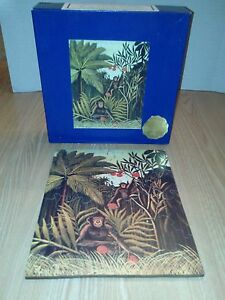 ELMS-Original-Handcut-Mahogany-Wood-Jigsaw-Puzzle-TWO-MONKEYS-IN-JUNGLE-25-piece