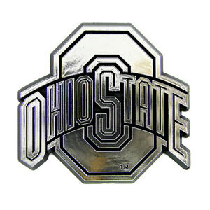 Details About Ohio State Buckeyes Car Truck Plastic Chrome Color 3 D Sticker Decal Emblem