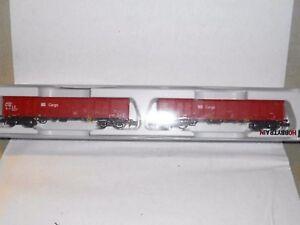 123/17,2xGüterwagen offen.,4achs.,der DB Ep.5,Hobbytrain23406,mit.OVP,TOP Zust.