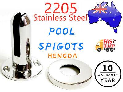 2205 Stainless Steel Round Spigot Frame less Glass Pool Deck Fence Spigot HENGDA