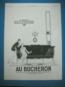 PUBLICITE-DE-PRESSE-AU-BUCHERON-MAGASIN-FIANCAILLES-ILLUSTRATION-R-VINCENT-1925