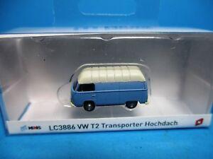 DéLicieux Lemke Lc3886 Vw T2 Transporteur Hochdach Bleu Clair, Neuf, Neuf Dans Sa Boîte, M 1:160-vp,m 1:160 Fr-fr Afficher Le Titre D'origine