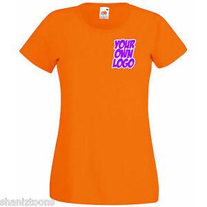 Ladies-Womens-Lady-Fit-Orange-T-Shirt-Personalised-Text-Logo-Design