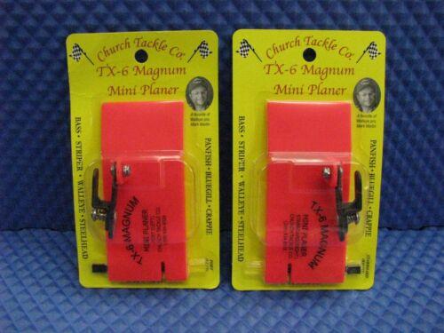 Church Tackle TX-6 Magnum Mini Planer Board Port /& Starboard 2 Pack