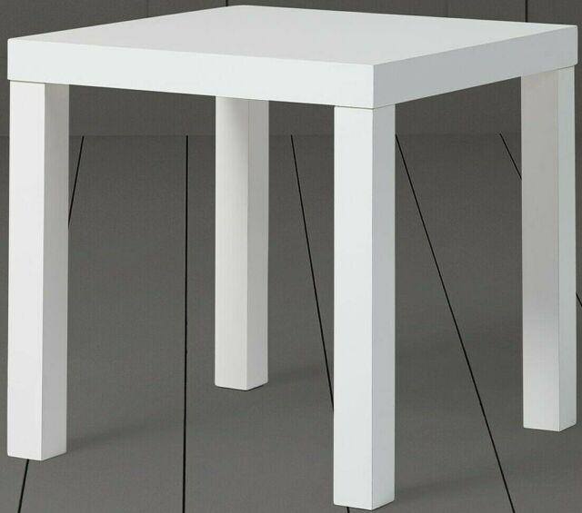 New Tesco Grove Side Table White Flat Pack