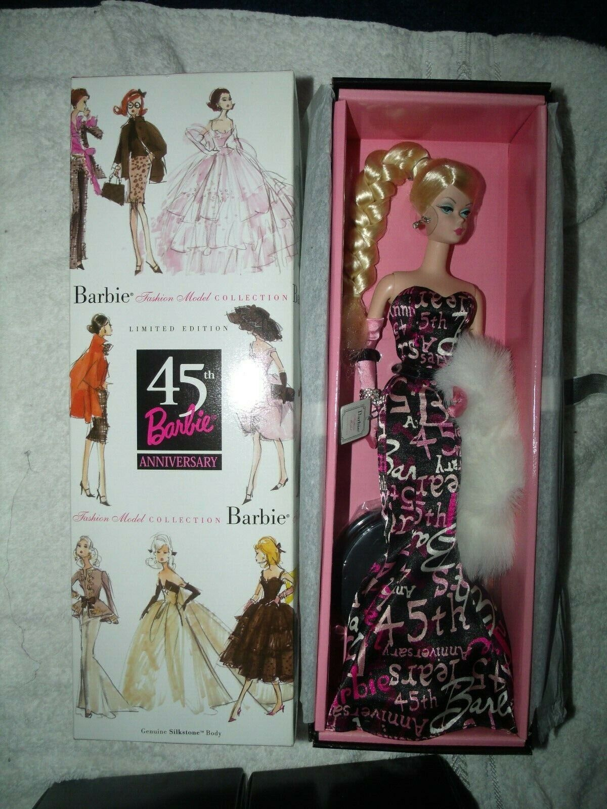 Silkstone Barbie 45th Anniversary Fashion Only NO Jewelry ~ Newly Unboxed ~