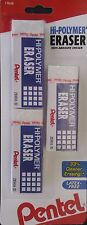 Pentel Hi Polymer Erasers 3 Pack Large Size Eraser Latex Free