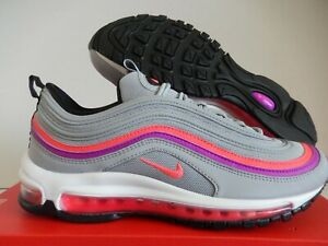Nike Air Max 97 Wolf Grey Solar Red Shoes Best Price 921733 009