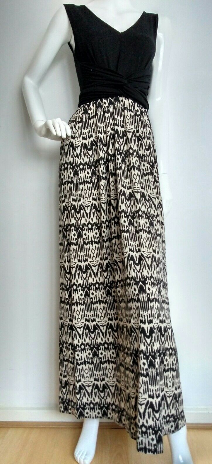 HOBBS casual maxi dress size 12 --VGC-- jersey belted contrast fabric