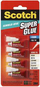 3M-Scotch-Super-Glue-Liquid-4-Single-Use-Tubes-Precision-Fine-Tip