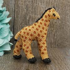 Native American Beadwork Zuni Beaded Giraffe by Anna Sarracino