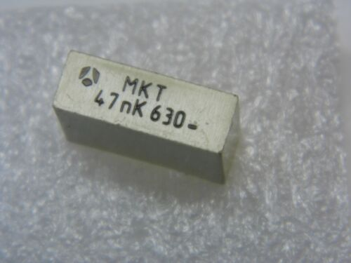 capacitor condensateur plastique 47nF 47000pF 0.047µF 10/% 630V MKT Lot de 10